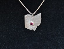 Ohio State Pendant With Ruby