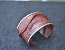 Copper Cuff with Silver Trim