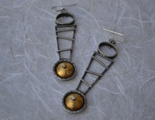 Gold & Silver Dangle Earrings