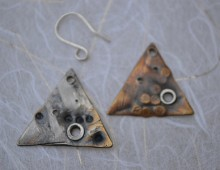 Bronze & Silver Reversible Earrings